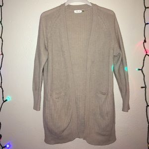 Cardigan open front sweater